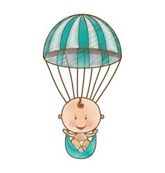 Cute baby icon image vector