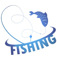 design fishing vector image vector image