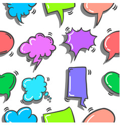 Doodle of text balloon various style vector