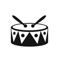 Drum and drumsticks icon simple style vector image vector image