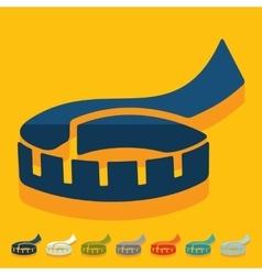Flat design tape measure vector image vector image
