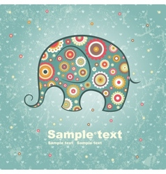 Floral elephant vector