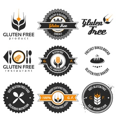 Gluten free label set vector