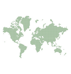 green dotted world map vector image