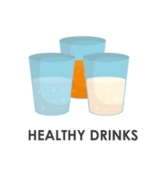 Healthy drinks design vector