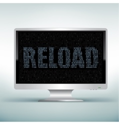 monitor code reload vector image