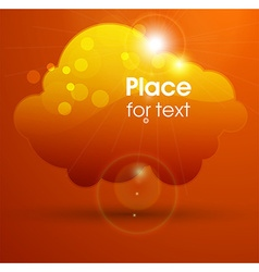 Orange cloud design vector