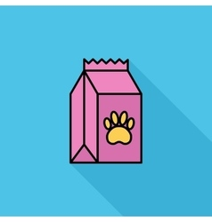 Pet food bag vector