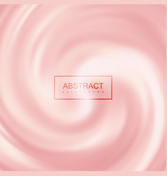 Pink creamy swirling background vector