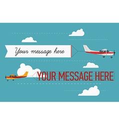 Plane Ad Icon Set vector image vector image