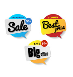 set label sale special offer sale 50 percent vector image vector image