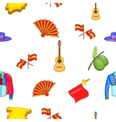 Spain pattern cartoon style vector