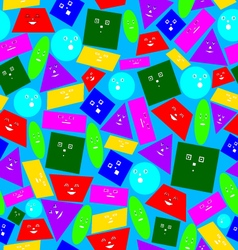 Texture of geometric shapes vector
