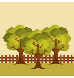 Tree landscape design vector