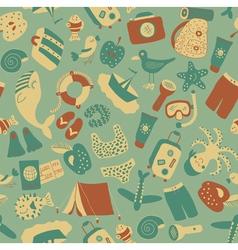vintage travel pattern vector image