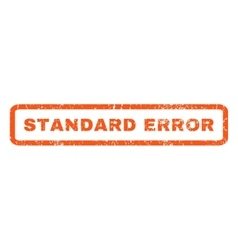 Standard error rubber stamp vector