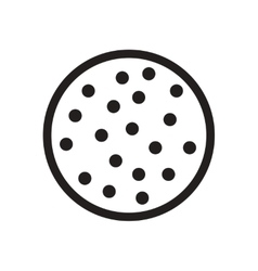 Flat icon in black and white cookie vector