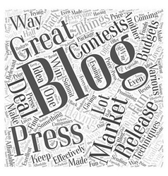 Great blog marketing techniques word cloud concept vector