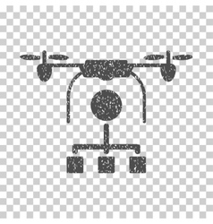 Drone distribution grainy texture icon vector