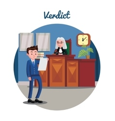 Judicial system flat template vector