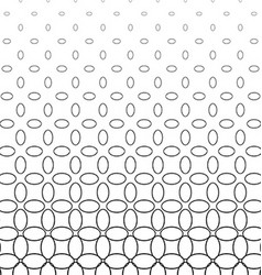 Abstract black and white ellipse pattern design vector image