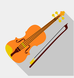 Violin icon flat style vector