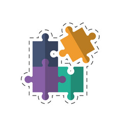 Puzzle business solution image vector