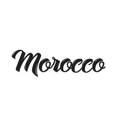 Morocco text design calligraphy vector