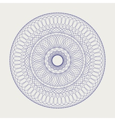 Round lace ornament 2 vector