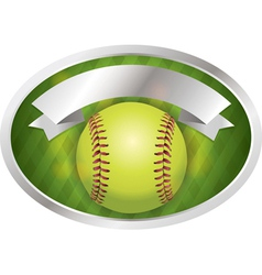 Softball emblem vector