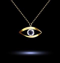 pendant with eye vector image
