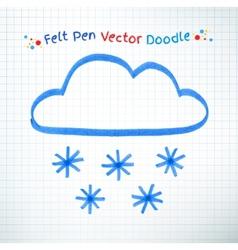 Snowy cloud vector
