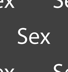 Safe love sign icon safe sex symbol seamless vector