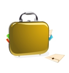 Case with documents vector image