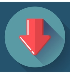 Red prohibited or banned download symbol flat vector