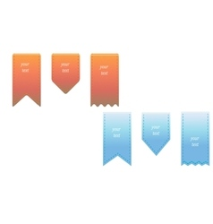 Ribbon bookmarks set vector