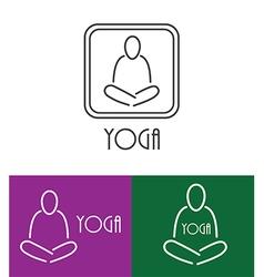 yoga logo outline vector image