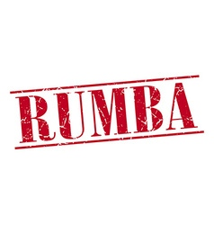Rumba red grunge vintage stamp isolated on white vector