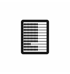 Abacus icon in simple style vector image vector image