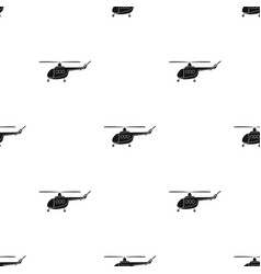 Air transport helicopter transport with blades vector