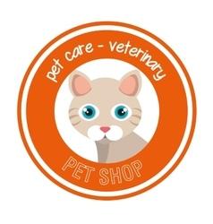 cat pet shop icon vector image vector image