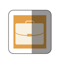 Color sticker square with executive suitcase icon vector