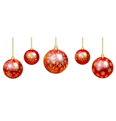 colorful baubles vector image vector image
