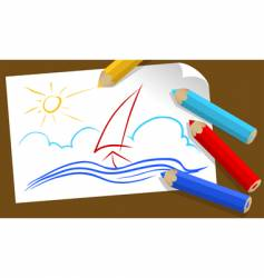 drawing vector image vector image