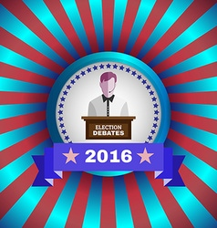 Election debates 2016 flyer vector