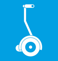 Electrical self balancing scooter icon white vector