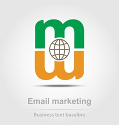 Email marketing business icon vector