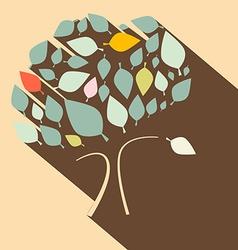 Flat Design Retro Tree vector image vector image