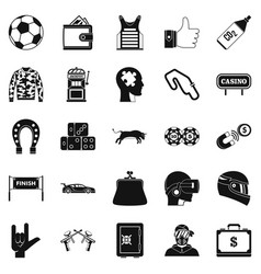 gaming icons set simple style vector image