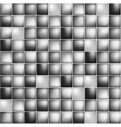 Glossy colorful mosaic square cells grid vector image vector image
